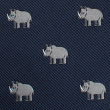 African Rhino Pocket Square Fabric