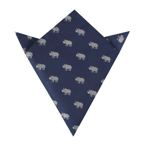 African Rhino Pocket Square