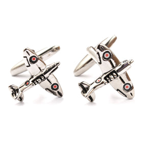 Airplane Cufflinks Double Front Side