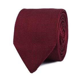 Aisling Burgundy Knitted Tie