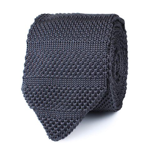 Alaskan Grey Knitted Tie