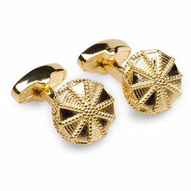 Albert Einstein Gold Cufflinks