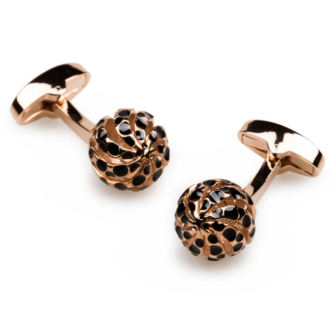 Alexander The Great Rose Gold Cufflinks