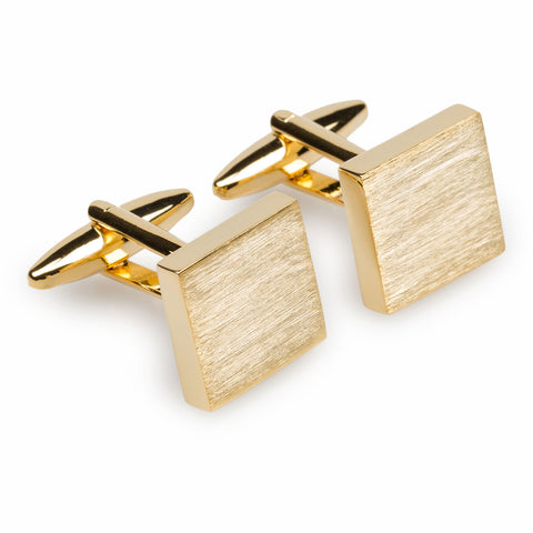 Alexandria Brushed Gold Square Cufflinks