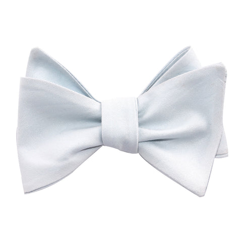 Alice Blue Cotton Self Tie Bow Tie