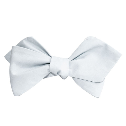 Alice Blue Cotton Self Tie Diamond Bow Tie