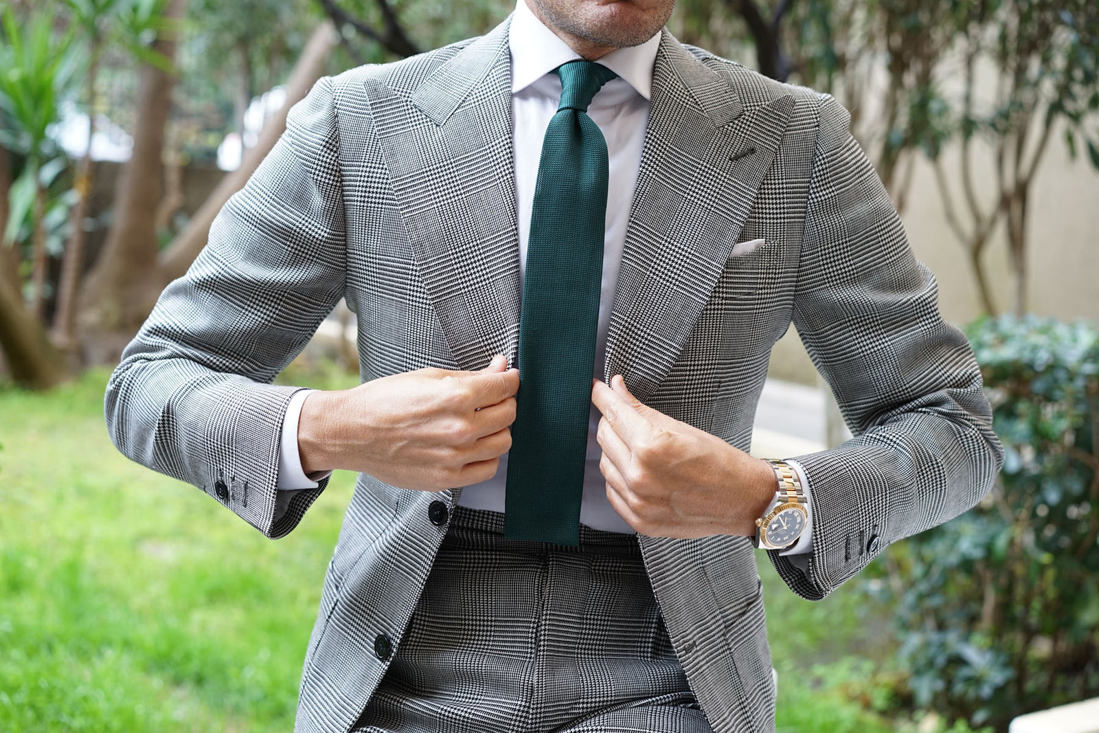 Amadeus Green Knitted Tie
