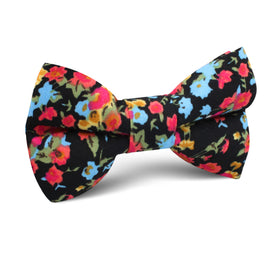 Amaryllis Black Liberty Floral Kids Bow Tie