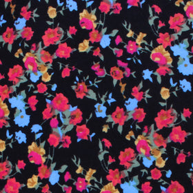 Amaryllis Black Liberty Floral Pocket Square