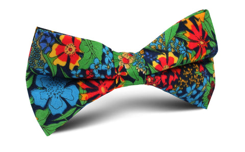 Amazonian Jungle Floral Bow Tie