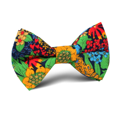 Amazonian Jungle Floral Kids Bow Tie