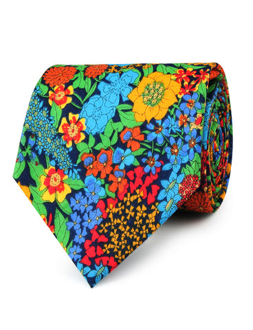 Amazonian Jungle Floral Necktie