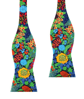 Amazonian Jungle Floral Self Bow Tie