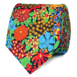 Amazonian Jungle Floral Skinny Ties