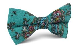 Amer Fort Teal Paisley Bow Tie