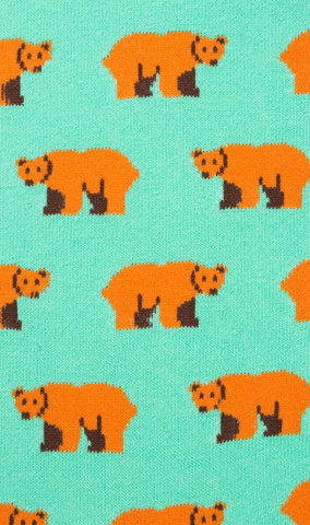 American Bear Mint Socks