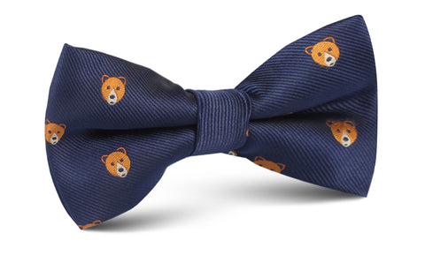 American Brown Bear Bow Tie