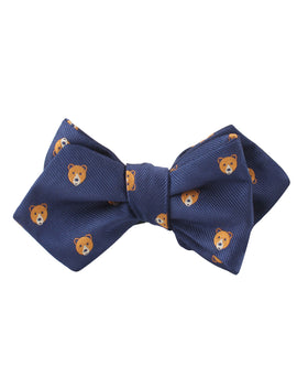 American Brown Bear Diamond Self Bow Tie
