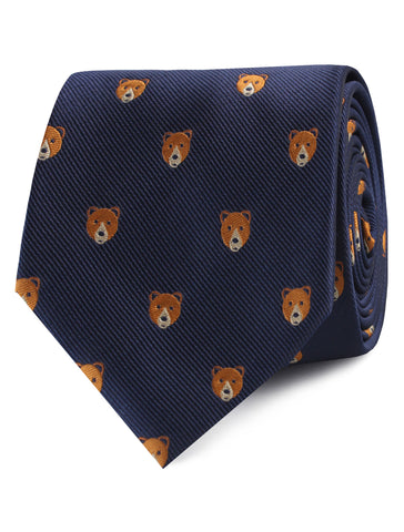 American Brown Bear Tie