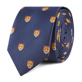 American Brown Bear Skinny Tie