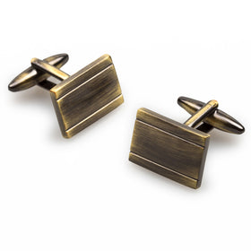 American Psycho Antique Brass Cufflinks