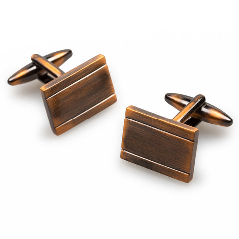 American Psycho Antique Copper Cufflinks