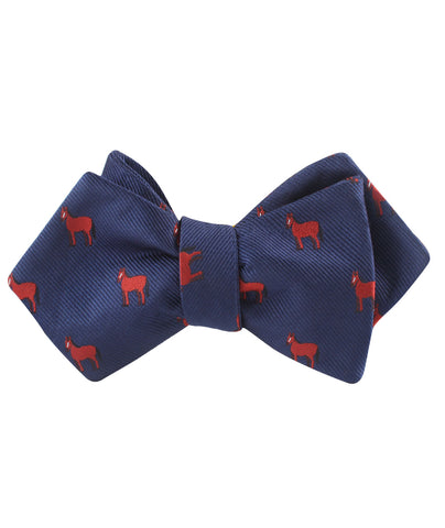American Quarter Horse Diamond Self Bow Tie