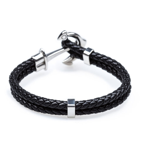 Anchor Black Bracelet