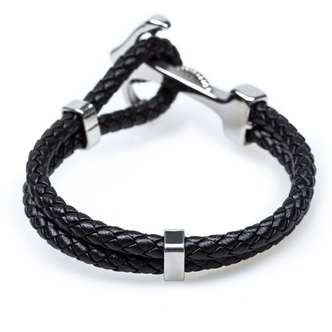 Anchor Rope Black Bracelet