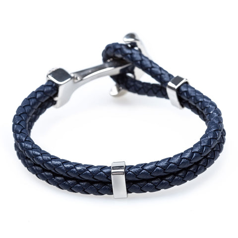 Anchor Rope Navy Bracelet