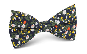 Anemone Floral Bow Tie