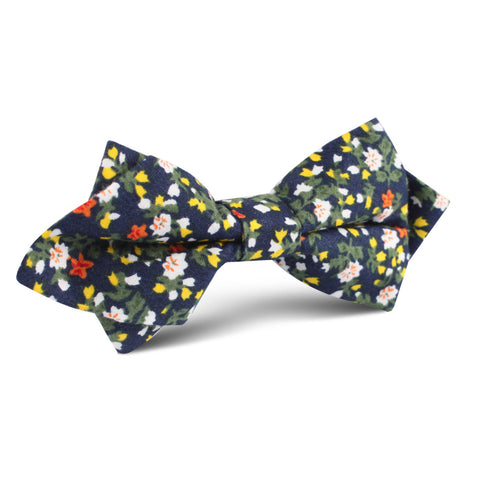 Anemone Floral Diamond Bow Tie