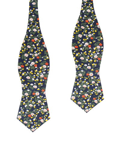 Anemone Floral Diamond Self Bow Tie