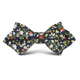 Anemone Floral Kids Diamond Bow Tie