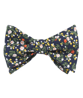 Anemone Floral Self Bow Tie