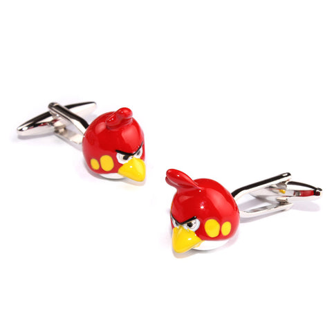 Angry Red Bird Cufflinks