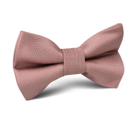 Antique Dusty Rose Weave Kids Bow Tie