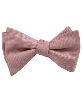 Antique Dusty Rose Weave Self Bow Tie