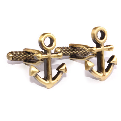 Antique Brass Anchor Cufflinks