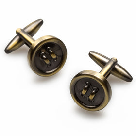 Antique Brass Button Cufflinks