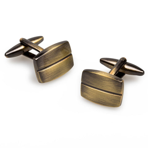 Antique Brass James Woods Cufflinks
