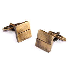 Antique Brass Square Cufflinks
