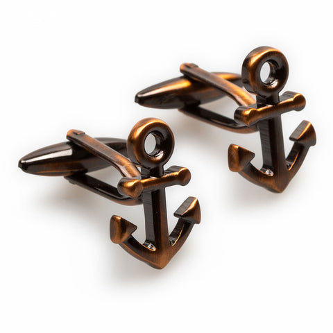 Antique Copper Anchor Cufflinks