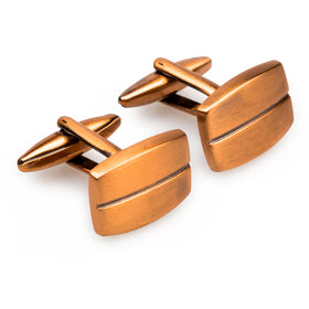 Antique Copper Joe Pesci Cufflinks