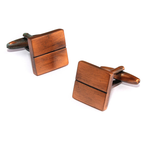 Antique Copper Square Cufflinks
