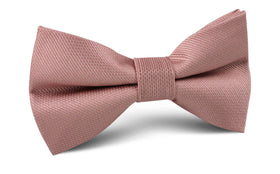 Antique Dusty Rose Weave Bow Tie