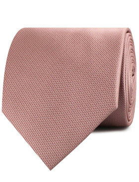 Antique Dusty Rose Weave Necktie