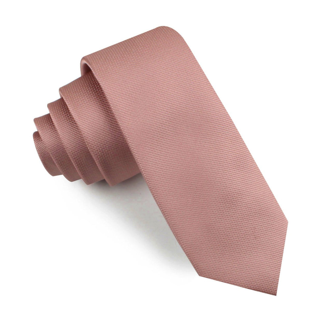 Antique Dusty Rose Weave Skinny Tie