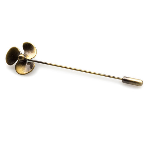 Antique Fan Lapel Pin