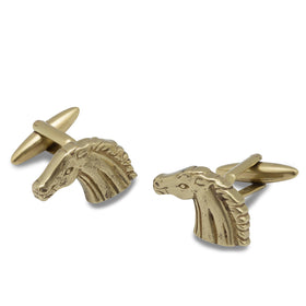Antique Gold Manchu Stallion Cufflinks
